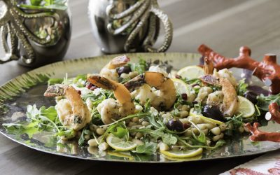Cristina Ferrare's Roasted Shrimp With Cannellini Beans