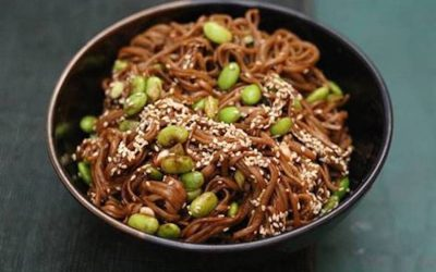 Soba Noodle Salad with Probiotic Peanut Miso Sauce